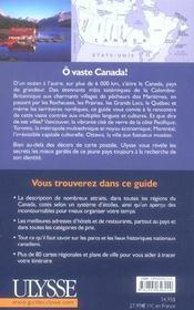 Canada (6e édition) - 4ème de couverture - Format classique