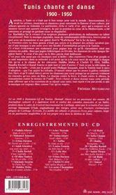 Tunis Chante Et Danse + Cd - 4ème de couverture - Format classique