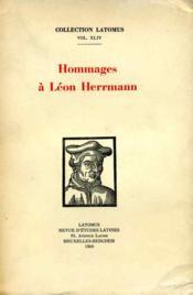 Hommage à Léon Hermann. - Couverture - Format classique