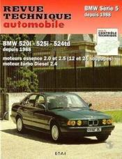 Rta 521.2 Bmw Serie 5 E&D (88/91)& Td - Couverture - Format classique