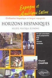 Horizons Hispaniques Societe Politique Economie Espagne Et Amerique Latine Civilisation Hispanique - Intérieur - Format classique