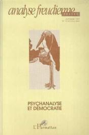 Analyse Freudienne: Psychanalyse Et Democratie - Couverture - Format classique