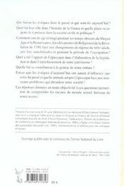 Les Eveques Dans L'Histoire De La France - Des Origines A Nos Jours - 4ème de couverture - Format classique