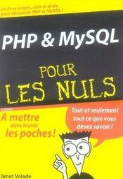 Php et mysql pour les nuls - Intérieur - Format classique