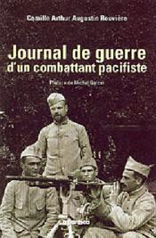 Journal de guerre d'un combattant pacifiste - Couverture - Format classique