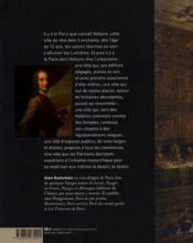 Paris, la ville rêvée de Voltaire - 4ème de couverture - Format classique