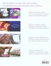 Point De Croix Pour La Decoration - 4ème de couverture - Format classique