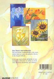 Peinture A L'Huile Des Motifs De Fleurs - 4ème de couverture - Format classique
