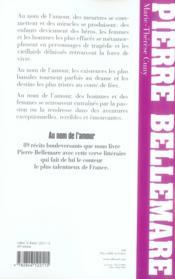 Au nom de l'amour (édition 2006) - 4ème de couverture - Format classique