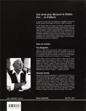 Auteurs En Scène ; Théâtres D'Oc... Et D'Ailleurs N.6 ; Yves Rouquette, Entre Parole Et Spectacle ; Juin 2004 - 4ème de couverture - Format classique