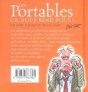 Portables - Ca Nous Rend Fous ! - 4ème de couverture - Format classique