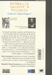 De Gaulle Raconte A Benjamin - 4ème de couverture - Format classique