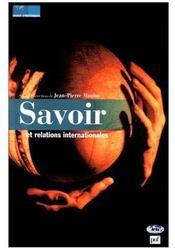 Savoir et relations internationales - Couverture - Format classique