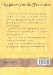Pièces d'or du téméraire - 4ème de couverture - Format classique