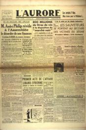 Aurore (L') N°465 du 15/02/1946 - Couverture - Format classique