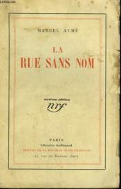 La Rue Sans Nom. - Couverture - Format classique