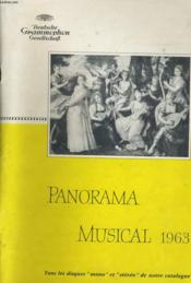 Panorama Musical 1963 - Couverture - Format classique