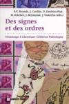 Des signes et des ordres ; hommage à Christiane Gillièron