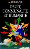 Droit Communaute Et Humanite