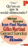 Qu'Est-Ce Que La Social-Democratie ?