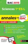 Annales bac 2015 sci 1re es-l