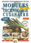 Modules de technologie culinaire t.1 ; BEP, CAP ; vlivre de l'élève