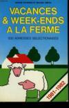 Vacances Et Week-Ends À La Ferme