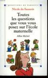 Toutes Les Questions Que Vous Vous Posez Sur L'Ecole Maternelle.