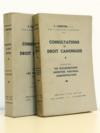 Consultations de Droit Canonique [ 2 vol. ] : Première série, les Sacrements ; Deuxième Série, Vie ecclésiastique, Ministère pastoral, Administration