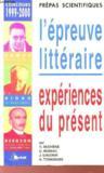 Prepas scientifiques - l'epreuve litteraire - concours 1999-2000