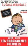 Qu'apprend-on à l'école maternelle ? (édition 2010/2011)