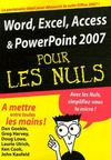Livres - Word, Excel, Access, Powerpoint 2007 pour les nuls