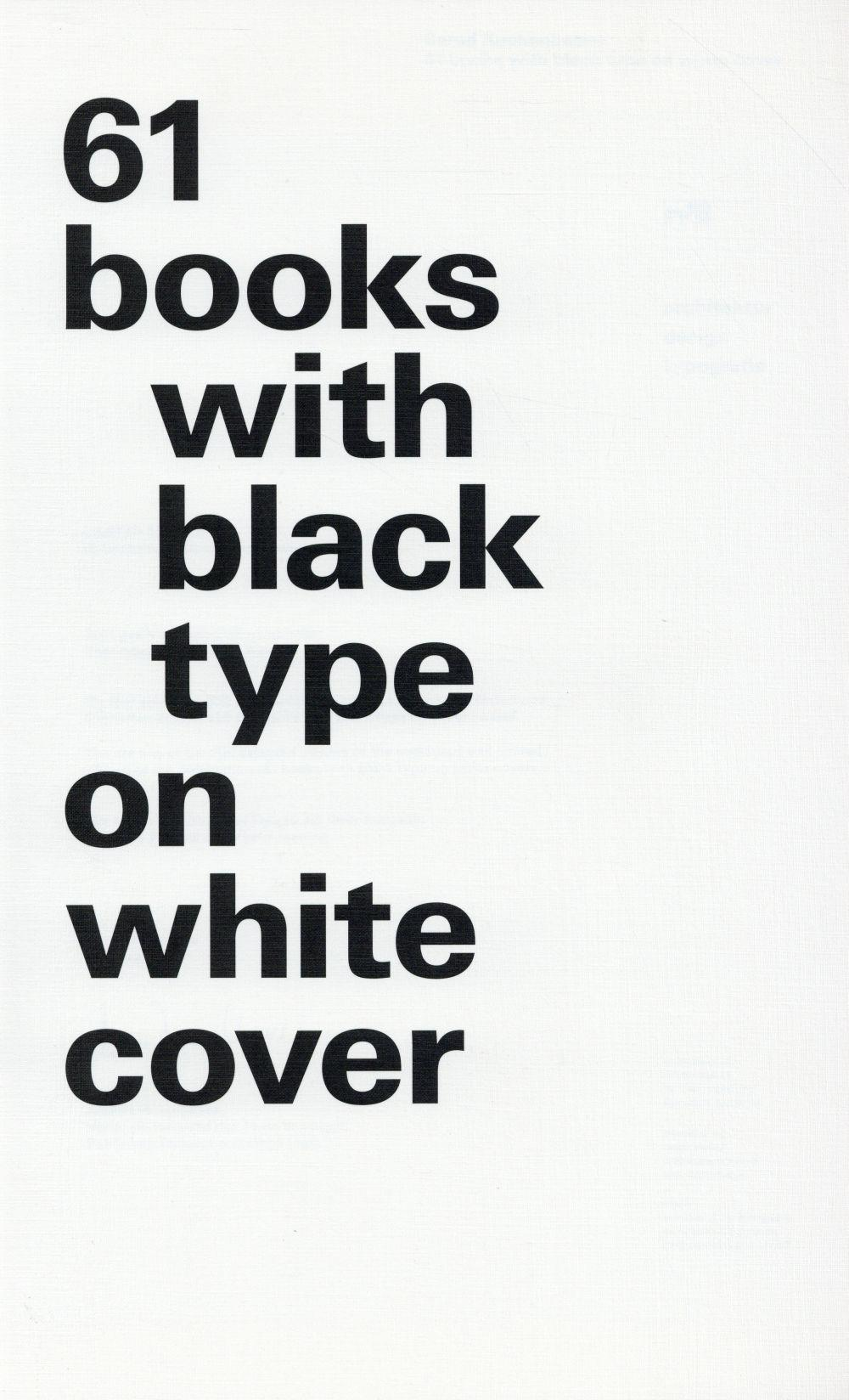 61 books with black type on white cover  - Kuchenbeiser Be