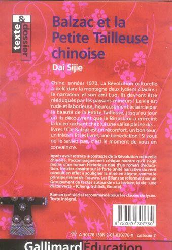 dai sijie balzac et la petite tailleuse chinoise dissertation