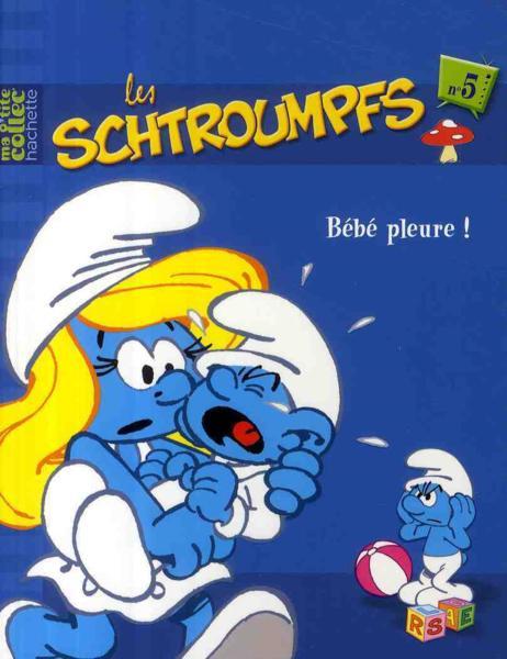 Livre les schtroumpfs t 5 b b pleure alain jost - Schtroumpf bebe ...