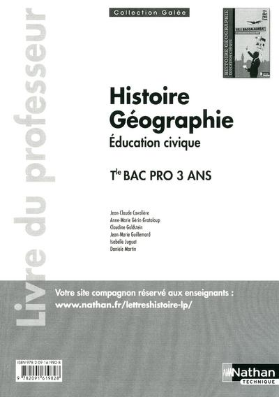 Hist Geog Term Bpro (Galee)  - Cavaliere Jean-Claud