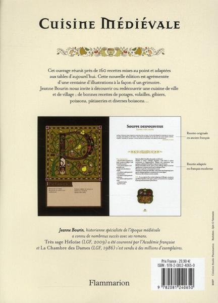 livre cuisine medievale pour tables d 39 aujourd 39 hui jeanne bourin. Black Bedroom Furniture Sets. Home Design Ideas