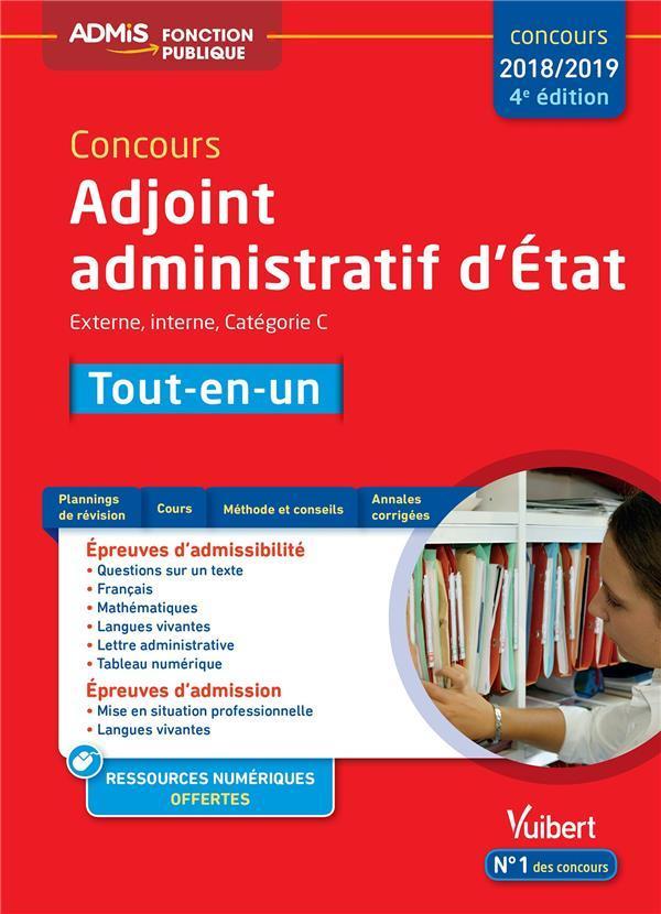 6ad66cf829c Vente Livre   Concours adjoint administratif d Etat   externe