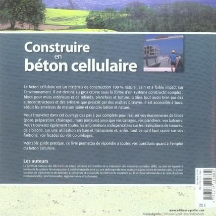 livre construire en beton cellulaire collectif. Black Bedroom Furniture Sets. Home Design Ideas