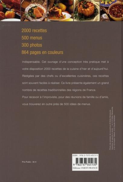 2000 recettes de la cuisine française ; de la gastronomie française