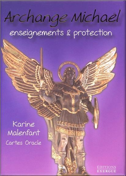 Vente Livre :                                    L'archange Michael ; coffret ; enseignements & protection ; cartes oracle                                      - Karine Malenfant