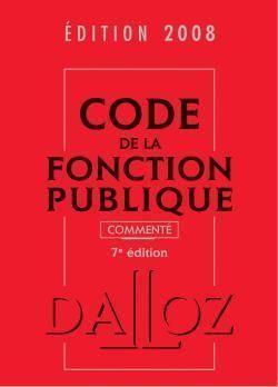 livre code de la fonction publique dition 2008 salon