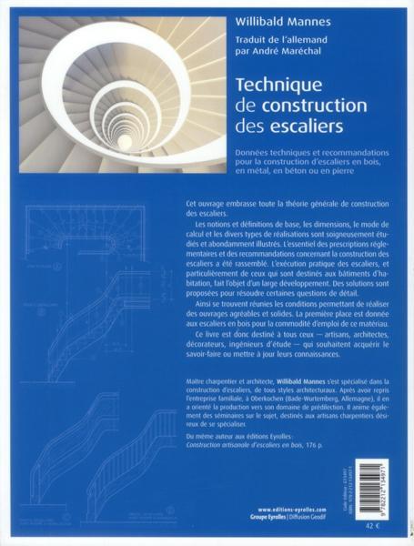 Livre technique de construction des escaliers willibald mannes - Construction des escaliers ...