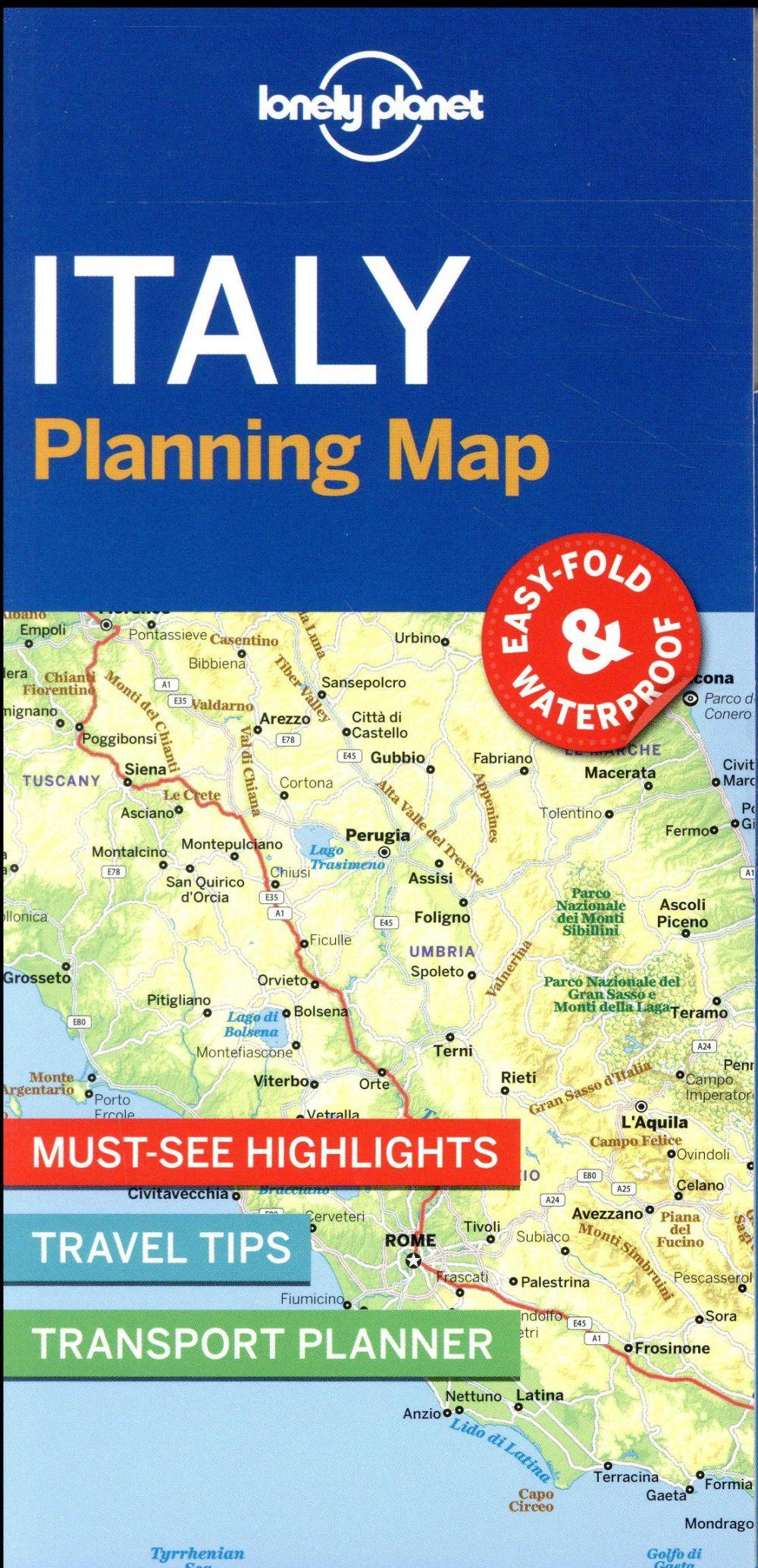 Vente  Italy planning map (édition 2017)  - Collectif  - Collectif Lonely Planet