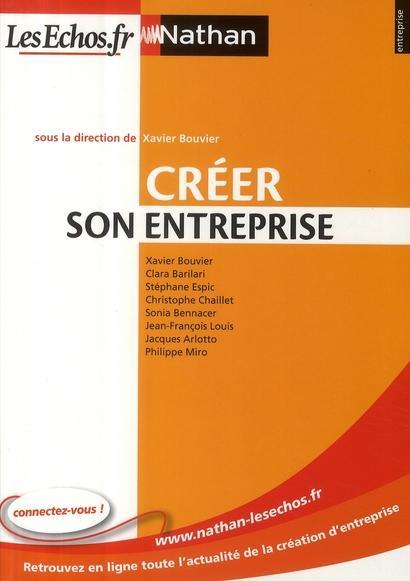 Cr er une entreprise dition 2009 bouvier xavier for Creer une entreprise innovante