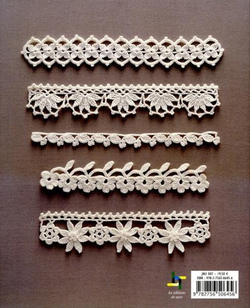 Livre motifs et bordures au crochet 164 motifs - Bordure de finition au crochet ...