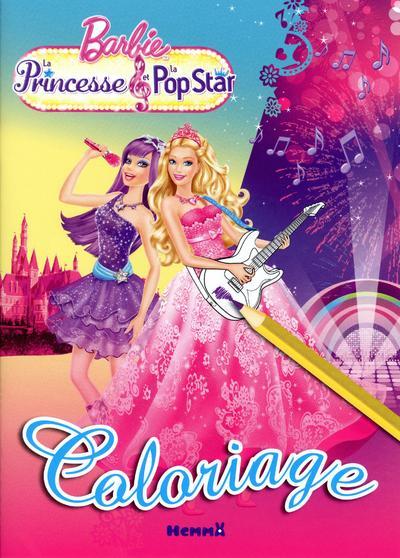Barbie la princesse et la pop star coloriage collectif - Coloriage barbie pop star ...