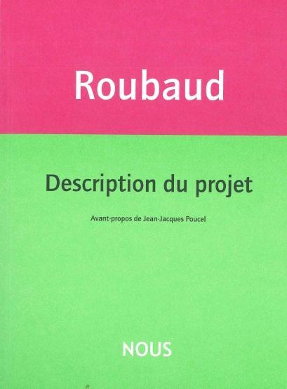 Description du projet  - Jacques Roubaud