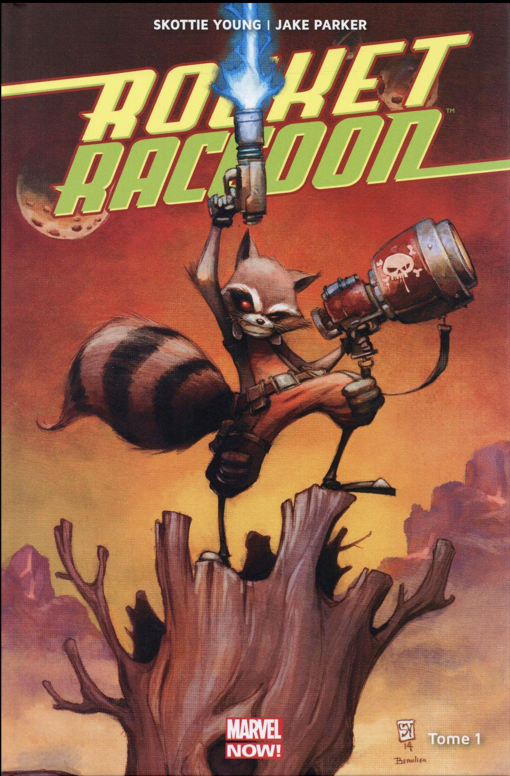 Vente Livre :                                    Rocket Raccoon t.1                                      - Jake Parker  - Scottie Young