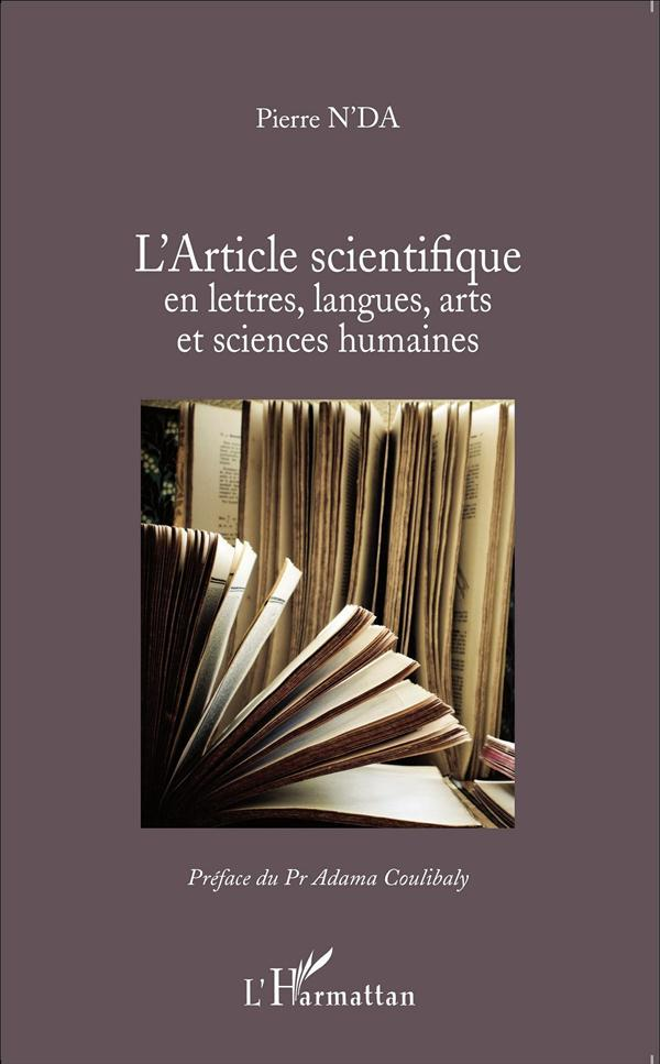 L'article scientifique en lettres, langues, arts et sciences humaines  - Pierre N'Da